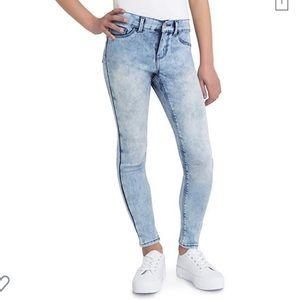 Jordache super skinny girl's 10 acid wash jeans